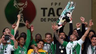 """""""Leões"""" de alvalade celebram conquista da Taça de Portugal"""
