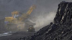 Mina de carvão.