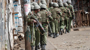 肯尼亞警察在首都內羅畢貧民窟, 2017年8月12號