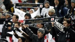 A torcida do Corinthians no Japão.