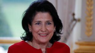La présidente de Géorgie Salomé Zourabichvili, en février 2019.