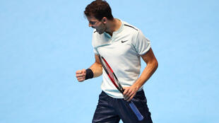 Grigor Dimitrov beat fourth seed Dominic Thiem in his first match at the ATP Finals.