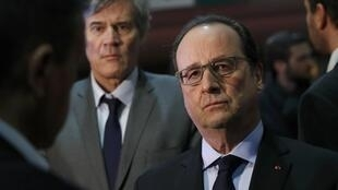 François Hollande, and the Minister for l'Agriculture Stéphane Le Foll at the agricultural salon in Paris
