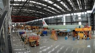 An Airbus A320 being built in China