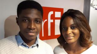Modibo Massake, porte-parole du collectif des étudiants étrangers en France, et Diara Ndiaye.