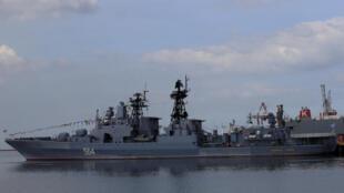 Khu trục hạm chống tàu ngầm Nga Đô đốc Tributs ghé thăm cảng Philippines ngày 03/01/2017.