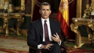 O Rei da Espanha, Felipe VI, na tradicional mensagem de final de ano ao país.
