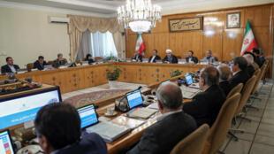 Tổng thống Iran Hassan Rohani chủ trì một cuộc họp nội các ngày 26/06/2019.