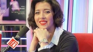 Lisette Oropesa en el estudio 51 de RFI