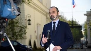 French prime minister Edouard Philippe 27 March 2020 in Paris