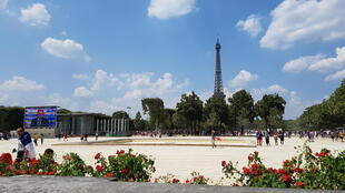 Champs de Mars, Paris on a brighter day in 2016