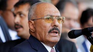 Rais wa zamani wa Yemen, Ali Abdullah Saleh, (hapa ilikua mnamo mwezi Agosti 2017).