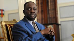 L'ancien président centrafricain, François Bozizé, alors qu'il était en fonction, le 8 janvier 2013, à Bangui.
