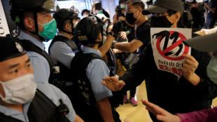 新冠疫情期间,香港民间抗争运动仍在继续。2020年4月26日摄于香港某商业中心