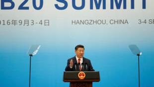 El presidente de China, Xi Jinping habla durante la inauguración del B20, en Hangzhou, China, septiembre 3 de 2016