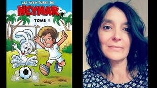 """Nathalia Ferreira, a tradutora para o francês da revista em quadrinhos """"Les aventures de Neymar Jr""""."""