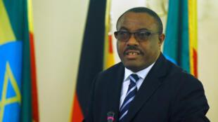 Hailemariam Desalegn, primeiro-ministro demissionário da Etiópia.