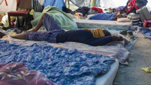 Les Jardins d'Eole étaient déjà occupés par les migrants avant leur expulsion l'an dernier. Cliché pris le 17 juin 2015.