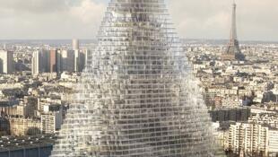 С 1973 года ассоциация SOS Paris занимается охраной наследия французской столицы. На фото — проект небоскреба (tour triangle), против строительства которого выступают активисты организации и жители города.