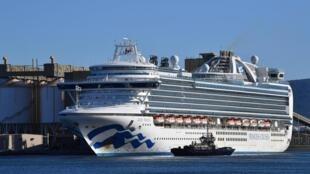 Le paquebot de croisière amarré au port de Kembla, le 6 avril 2020.
