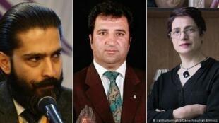نسرین ستوده، محمد نجفی و امیرسالار داودی، سه تن از برگزیدگان برای دریافت جایزه حقوق بشری شورای انجمنهای حقوقی و وکلای اروپا