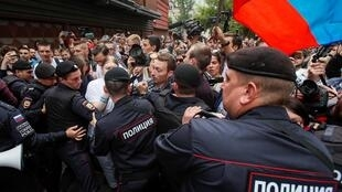 Не менее 39 человек задержаны 14 июля в Москве на акции в поддержку независимых кандидатов на выборах в Мосгордуму