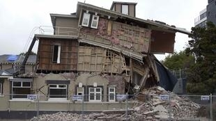 A house damaged after the earthquake in Christchurch 22 February, 2011