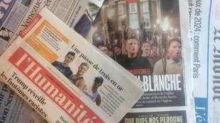 Primeiras páginas dos jornais franceses de 14 de agosto de 2017