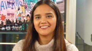Milagros Távara en los estudios de RFI