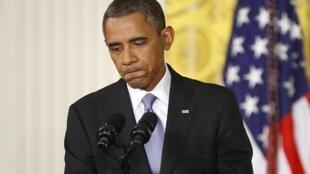 O presidente dos Estados Unidos, Barack Obama, em coletiva de imprensa, no dia 9 de agosto