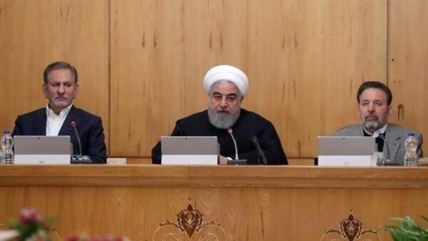 Le président iranien Hassan Rohani accuse les Etats-Unis et Israël, notamment, d'être derrière les manifestations de ces derniers jours.
