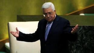 Глава палестинской администрации Махмуд Аббас на 72-й Генассамблее ООН в Нью-Йорке, 20 сентября 2017.