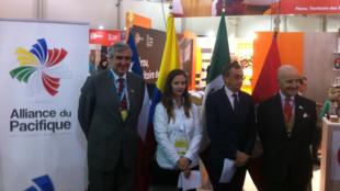 Representantes de la Alianza del pacícido, Chile, Colombia, México y Perú, durante la inauguración del espacio de la Alianza en el Salón Internacional de la Agroalimentación, París 22 de octubre 2018