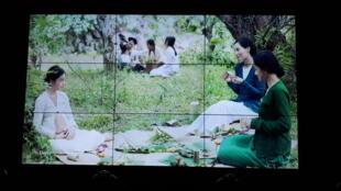 Một cảnh quay trong phim The Third Wife/Vợ ba của nữ đạo diễn Ash Mayfair trên màn ảnh giới thiệu Liên Hoan Quốc Tế Films des Femmes, Créteil, Pháp ngày 22/03/2019.