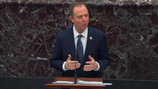 C'est le représentant démocrate et procureur en chef Adam Schiff qu ia mené la charge contre le président Donald Trump , mercredi 22 janvier 2020.