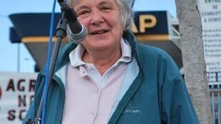 Lucía Topolansky durante campanha presidencial em 2009.