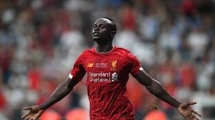 Sadio Mané après son but face à Chelsea en Super Coupe d'Europe, le 14 août 2019.