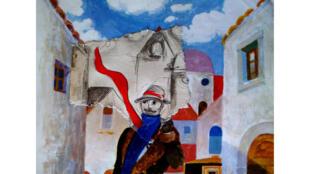 Dessin réalisé à partir de «Ecouter Paris avec Jeando Cardi».