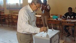 Le président réélu Jorge Carlos Fonseca, le 2 octobre 2016.