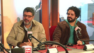 """O flautista e saxofonista Eduardo Neves(à esq.) e o violonista Rogério Caetano divulgam o álbum """"Cosmopolita""""."""