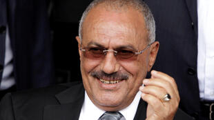 Ex president of  Yemen Ali Abdullah Saleh on April 22, 2011 in Sana'a