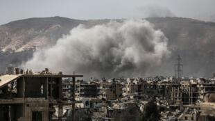 Combates em Jobar, bairro da capital síria