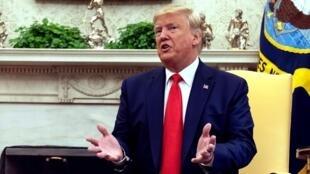 Le président Donald Trump dans le Bureau ovale à Washington, le 11 septembre 2019.