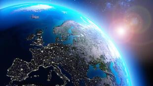 Imagen de Europa desde la perspectiva del espacio.