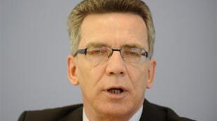 Thomas de Maizière, ministre allemand de l'Intérieur.