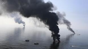 Golfo de México, el 13 de junio de 2010.