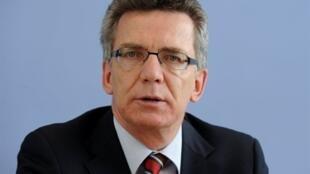 Thomas de Maizière, le ministre allemand de la Défense, ne veut pas d'une intervention militaire occidentale en Syrie.