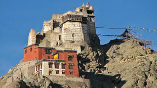 The mountainous town of Leh in the Ladakh region is home to the 17th-century Leh Palace