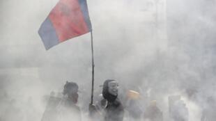 Manifestations à Quito le 12 octobre: la violence des affrontements a conduit le président Lenin Moreno à décréter un couvre-feu.
