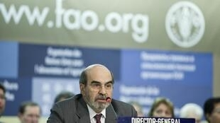 O brasileiro José Graziano foi eleito neste domingo para a direção-geral da FAO.